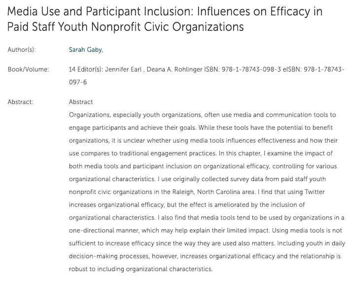 Media Use and Participant Inclusion