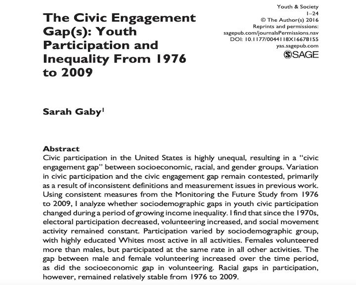 The Civic Engagement Gap(s)